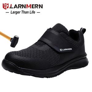 Zapatillas de seguridad de los hombres de Larnmern de la construcción de la construcción de la construcción del pie de acero calzado de protección ligero 3D a prueba de golpes zapatos de zapatillas de deporte para hombres LJ201214