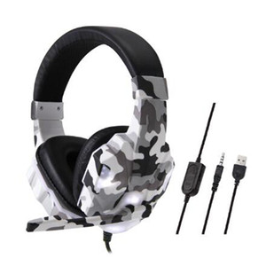 New fashion army green LED light wired headset for PS4 game headset PC WIN7 8 10 headset christmas