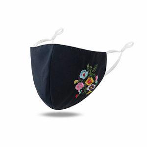 Creatividad Bordado Fashion Face Mascar para las mujeres delgado verano protector solar máscara a prueba de polvo Popular Flor Face Mask 66 m2