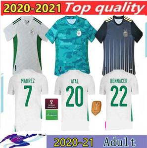 2020 Argelia Mahrez Jerseys de fútbol de dos estrellas 20 21 Atal Slimani Brahimi Home Bennacer Football Shirts Maillot de uniformes de pies