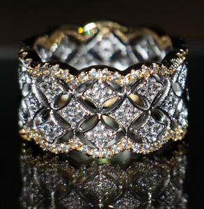 220 قطع صغيرة بيضاء توباز الفاخرة المجوهرات الساخن 925 الفضة روز مطلية بالذهب مقلد الماس أحجار الكريمة حلقات الزفاف النساء حلقات لحبيب حجم 5-11