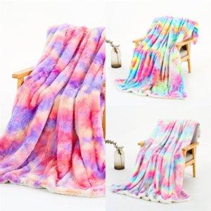 7x9 Флис Chenille Pattern Closeet серии квадратное одеяло радуги цветы бросить взрослые цветы радуги радуги древность