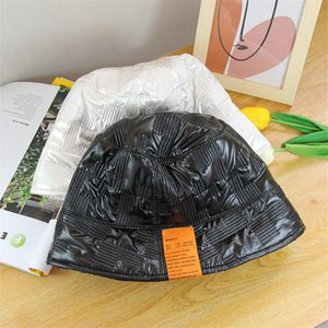Autumn Winter New Leather Basin Hat Fashion Retro Simple Hat Korean Version Bowler Bucket Women's Day Fisherman Trendy