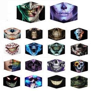 Fashion 3D Print Skull Pattern Mouth Mask Dustproof Face Mask Men Women Outdoor Unisex Masks For Cosplay Party