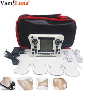 Double-Channel Tens Massager Electronic Silicone Shoes Pulse Digital Full Body Physiotherapy Instrument Meridian Acupuncture