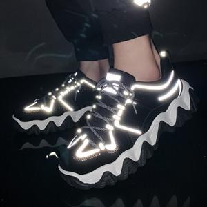 Sneakers de plate-forme de mode printemps semences pour hommes Chunky Casual Dad Femmes Semelle Sole Sole Jelly Shoes 201119