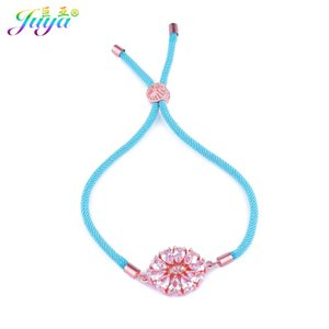 Cubic Zirconia Jewelry Bracelets Gold  Rose Gold Flower Charm Bracelets For Women Men Wedding Party Jewelry