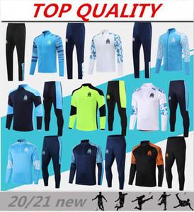2020 2021 Olympique de Marseille Cousssuit Футбольный тренировочный костюм Maillot de Foot 20/21 Малитерь Таувин Ом Футбольная куртка