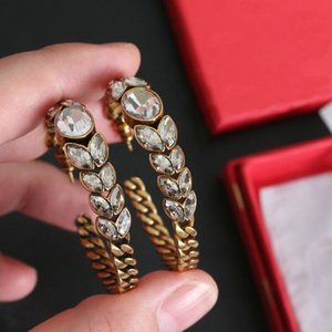 Fashion CZ earrings for lady Women Party Wedding Lovers gift engagement Jewelry for Bride With BOX