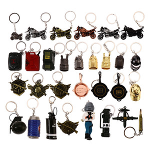 Keychain Player Dignunkgrounds Battlegrounds Peace gioco Puntelli Model Portachiavi Super Ace Aircraft Ciondolo Grenade Pan Coke Cappello Cappello Grossista