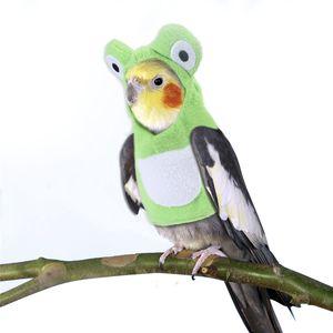 الطيور الملابس الببغاء معطف الشتاء الدافئة هوديي الببغاء cockatiel الملابس الحيوانات الأليفة يظهر حزب زي الصورة دعامة JK2012PH