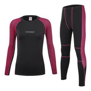 Pro Team Bike Base Layer Women Winter Fleece Cycling Clothes Mtb Thermal Underwear Set Sexy Ladie Sportswear Long Johns Skinsuit