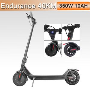 AB Stok Elektrikli Scooter Yetişkinler 350 W / 36 V Katlanabilir Tekerlekler Scooter Katı Kaykay Mini LED Ekran Güç MK042