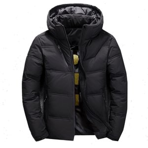 FGKKS Quality Brand Men Down Jacket Slim Thick Warm Solid Color Hooded Coats Fashion Casual Down Jackets Male 201204