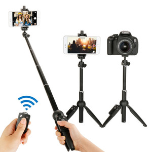 3 in 1 Yunteng YT-9928 Handheld Tripod Selfie Stick with Bluetooth Remote For iPhone X XS MAx Sumsang Galaxy Huawei Gopro 7 6 5 Y1128