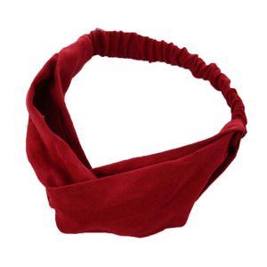 Frauen Frühling Wildleder Stirnband Vintage Kreuz Knoten Elastische Haarbänder Solid Rosa Rot Schwarz Mädchen Haarband Für Frauen Haarschmuck Q Bbymfz
