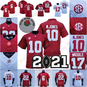 2021 Playoff NCAA College Alabama Football Jersey Jaylen Waddle Najee Harris Devona Smith John Metchie III M. Jones College Home Away
