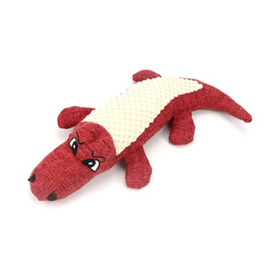 Phonation Plush Dog Toys Simulation Crocodile Linen Splicing Pets Interactive Toy Animal Chew Supplies 29cm Red Green Blue New 7 5bh G2