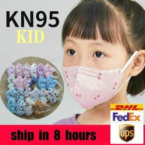 Enfants KN95 Masques Designer Enfants Designer Jeu de visage jetables 5 couches protectrices pour étudiants garçons filles FFP2 mascarilla masque Enfant en actions américaines
