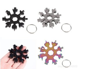 Openers Hex 18 Pocket Keyring Hot Key Dhl Survive Ring Multipurposer Snowflake Multi Multifunction Tool Outdoor 1 Spanne Camp OWA1726