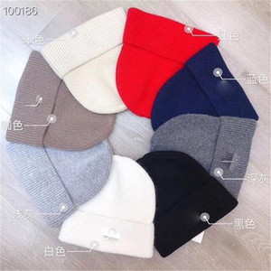 Casual Örme Bere Şapka Kadın Erkek Sonbahar Kış Şapka Skullies Cap Hip Hop Beanies Şapka Mektubu Yeni