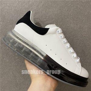 2021 White Black Sapatos Casuais com Box Homens Air Almofada Moda Mulheres Sapatos de Couro Masculino Lace Up Platform Sole Sapatos de Sole Oversized Tamanho 36-45
