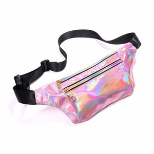 womens sequin laser colorful cool one-shoulder chest bag korean version of the new product personality multi-compartment waist bag trend