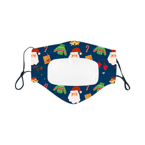 Christmas Lip Language Máscara Moda Transparente Impressão Facs Máscaras Adulto e Crianças Xmas Design Masks Grátis GWL CCE3280