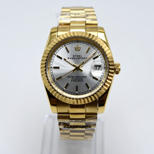 Argento di alta qualità 36mm Datejust 2813 Sweep Sweep Automatic Mechanical Movement Due tonalità argento orologi da uomo in acciaio inox Gents Gents WristWatches