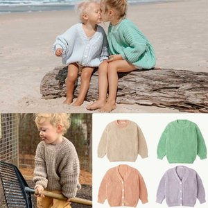 2020 SS Brand New Autumn Winter Kids Sweaters for Boys Girls Knit High Quality Cardigan Baby Child Fashion Outwear Clothes LJ201128