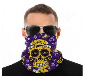 Neck Tiger Seamless NCAA Gaiter Shield LSU Scarf Bandana Face Masks UV Protection for Motorcycle Cycling Riding Running Headband