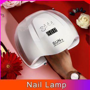54W Painless SUNX UV LED Lamp Nail Dryer Lamp Drying Gel Polish Timer Nail Art Manicure Gel Varnish Large Space 36PCS Dual Light