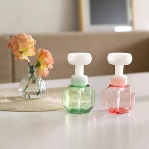 1 Pz Bottiglia di sapone Schiuma Lozioni Rifibrible Bottiglia Pompa Fiore Pompa Testa Sapone Shampoo Cosmetico Empty Flower Foam 300ml