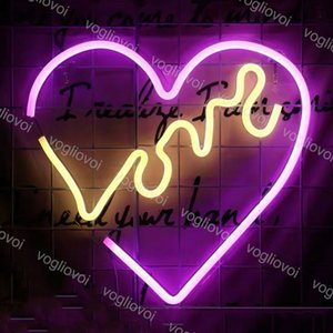 Led Neon Sign SMD2835 Indoor Night Light Design Heart Love Model With Transparent Backplane Holiday Xmas Party Wedding Table Lamps DHL