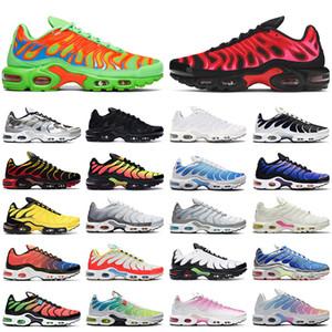 2021 nike tn air max plus des chaussures de course pour hommes Mean Green University Red Triple noir Hyper Blue Pimento Crater Smoke Grey Hommes Femmes Baskets Sport Sneaker