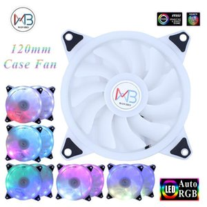 120mm RGB Case Fan Cooler Computer Cooling Case Fans Big D-Type 4PIN Colorful LED Lamp Fan cooler Radiator Heatsink Auto RGB1