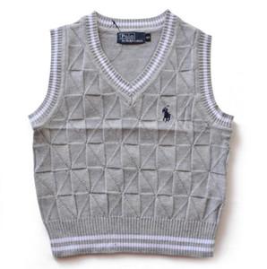 Coton classique Pull pour enfants chaleureux Version coréenne Garçons Sweaters Filles Gilet Gilet Sans Sans Pull pour enfants Gilet de pull pour enfants