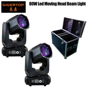 2 pieces with flightcase super beam moving head led lyre beam 80w mini moving head light