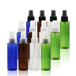 100ml X 50 Empty Makeup Setting Spray Pump Plastic Bottle With Black White Collar 100cc Perfume Cosmetic PET Container