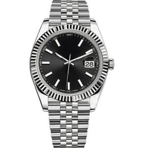 Sapphire Kristall 41mm Black Dial Mode Herrenuhren Meister Automatische Mechanische Bewegung Mann Watch Diamant Datum Männer Armbanduhren