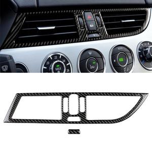2 PCS pour la conduite gauche Carbon Fibre de carbone Panneau de sortie d'air intermédiaire SOIT Color Color Autocollant Décoratif pour BMW Z4 2009-2015