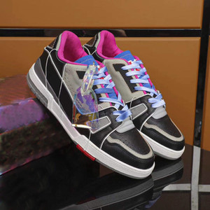 2021 New Trainer Sneaker Luxurys Designers Shoes Shoes Platform Genuine Leather Flat Sports Sneaker Low-Top Men Designer Casual Shoes