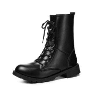 Coppie Stivali da motociclo popolare delle coppie Dimensioni 35 -42 donne Stivali da combattimento ad alto top in pelle da uomo in pelle per le donne Casual Luxury Military Boot Army J1203