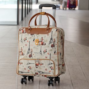 Waterproof High Oapacity Travel Bag Thick Style Rolling Suitcase Trolley Luggage Lady Men Trip Bags Suitcase with Wheels Suplies LJ201119