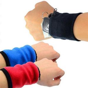 Sport Armband Running Bag Gym Cycling Armband Badminton Tennis Sweatband Handgelenkstütze Tasche Handgelenk Geldbörse Beutel Armbeutel