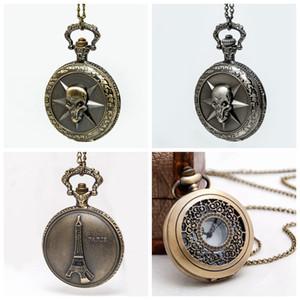 Nova grande linha de fogo de incêndio de incêndio relógio de bolso colar jóias vintage quartzo 47mm atacado versão coreana camisola cadeia de moda relógio pendurado wat