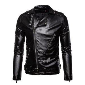 Men's Fur & Faux Leather Jacket Men 2021 Motorcycle Autumn Winter Casual Slim Coat Fashion Biker For