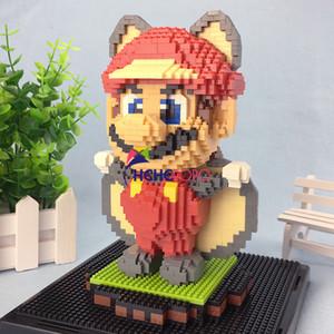 1595pcs 2498 Super Flying Squirrel Mario Mini Block 3D Model Diamond Building Small Blocks Bricks Assemble Toy Q1126
