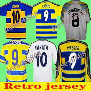 1998 1999 2000 Parma Retro Soccer Jersey 01 02 95 97 Home Away 98 99 00 Fuser 8 Baggio 9 Crespo 10 Ortega 11 Chemise de football amoroso