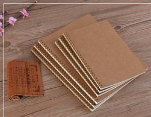 Explosive new product hot sale A5 kraft paper cover notebook dot matrix grid coil school office business diary notebook office supplies